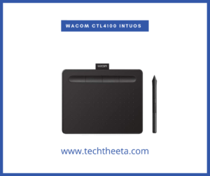 """Wacom CTL4100 Intuos Graphics Drawing Tablet with Software, 7.9"""" X 6.3"""", Black, Small"""