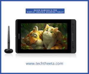 HUION Kamvas 13 Pen Display Graphic Drawing Tablet Tilt Function Battery-Free Stylus 8192 Pen Pressure 13.3inch 120% sRGB (Black)