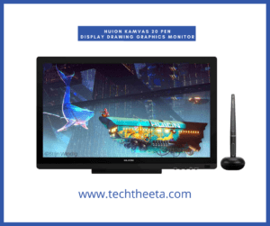 7. HUION KAMVAS 20 Pen Display Drawing Graphics monitor with 19.5 Inches Battery-Free Stylus 8192 Pen Pressure 120% sRGB
