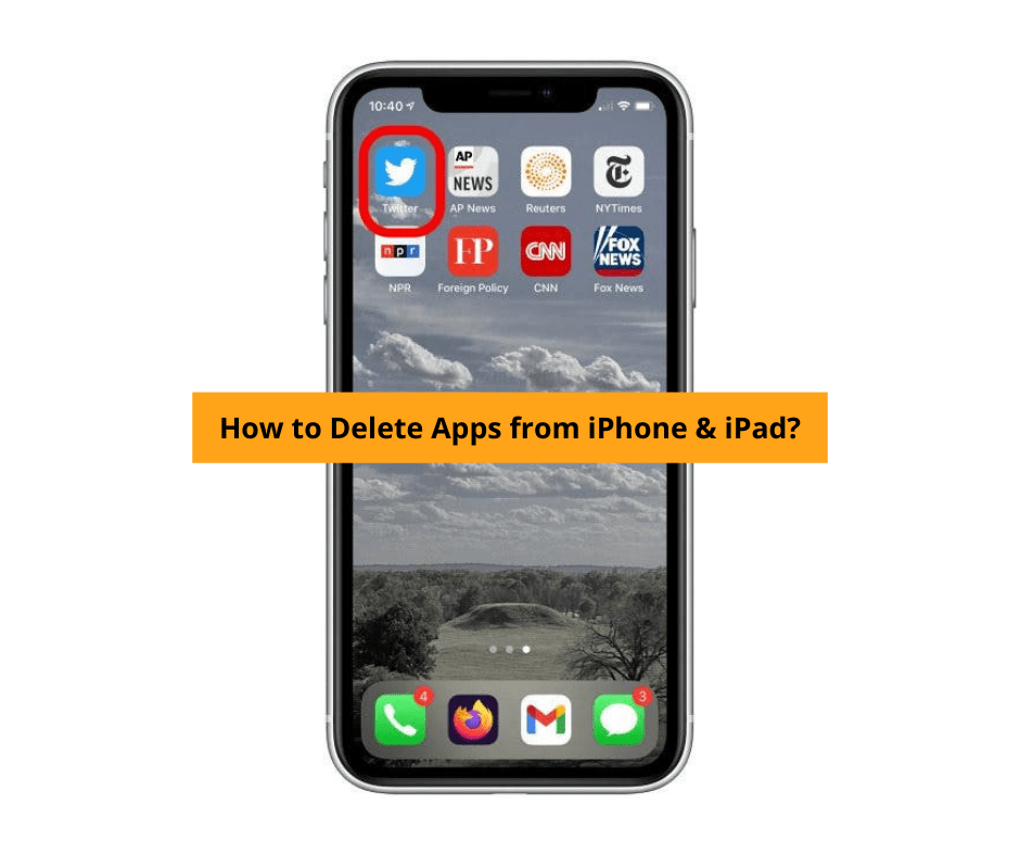 how to delete apps from ipad & iphone